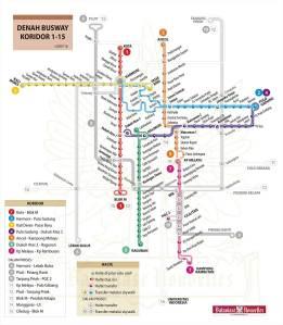 peta trans-jakarta